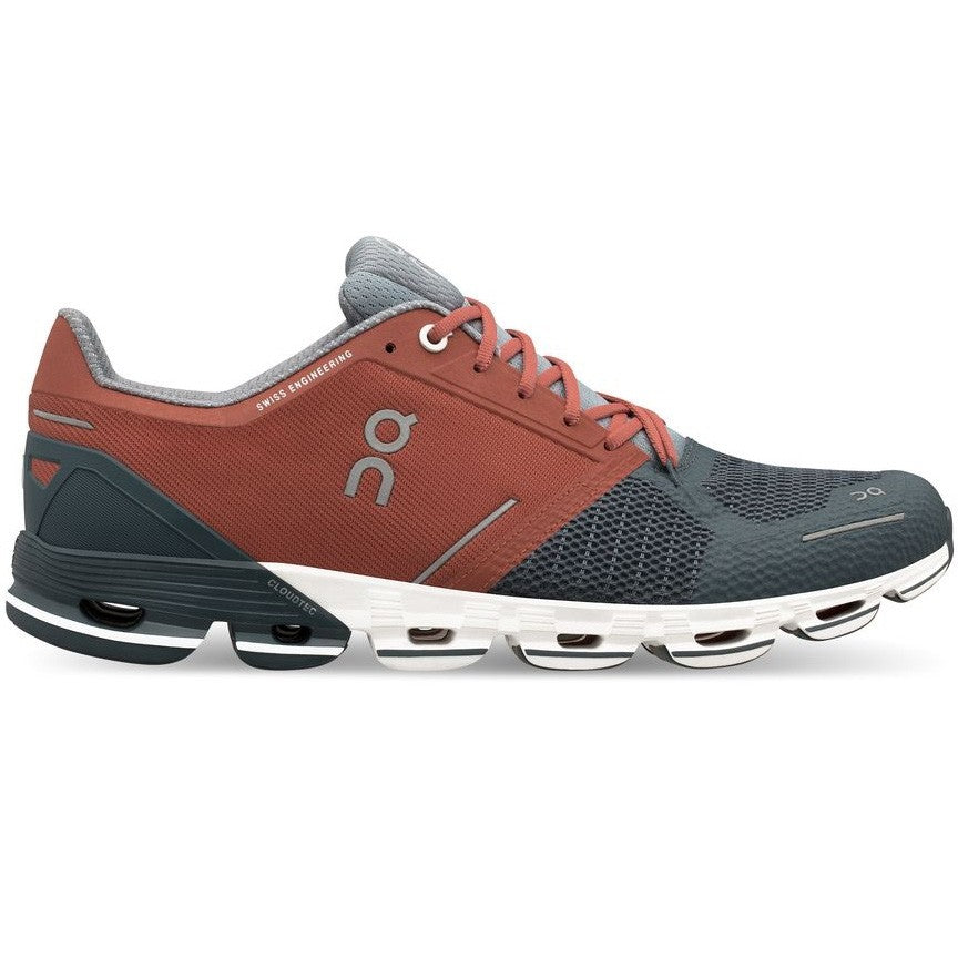 On Men's Cloudflyer Running Shoes Rust /  Stone - achilles heel