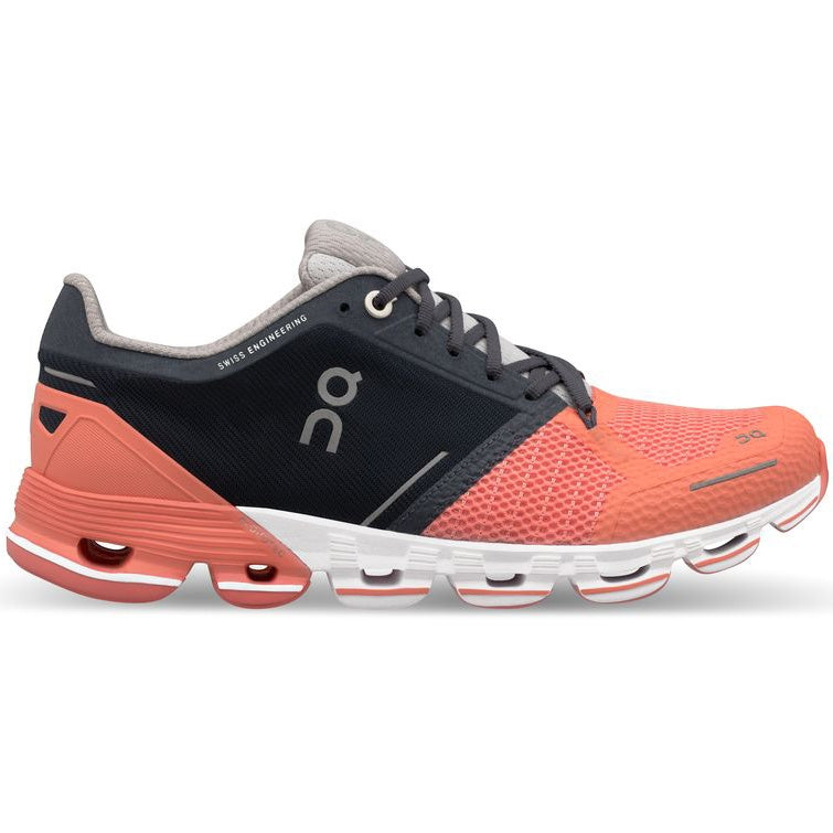 On Women's CloudFlyer Running Shoes Salmon /  Ink - achilles heel