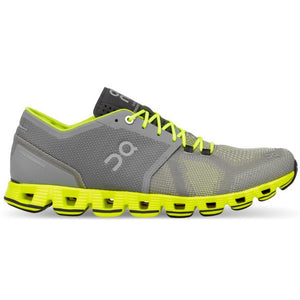 On Men's Cloud X Running Shoes Grey & Neon AW18