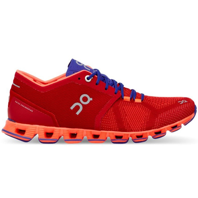 On Women's Cloud X Running Shoes Red / Flash - achilles heel