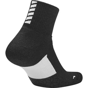 Nike Elite Cushion Quarter Sock Black & White SP18 011
