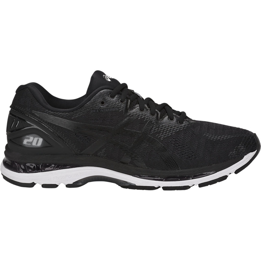 Asics Men's Gel Nimbus 20 Running Shoes Black / White / Carbon