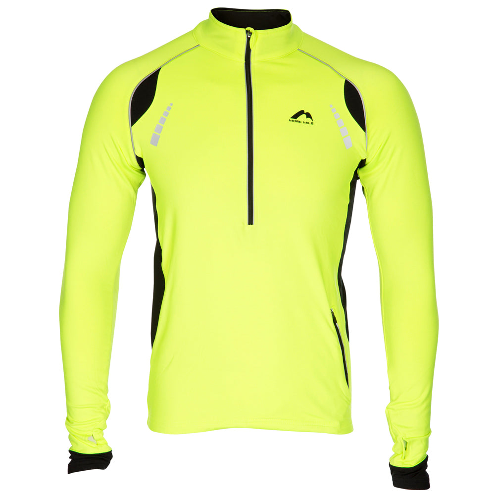 Garscube Harriers LS 1/2 Zip Top Men's Fluro Yellow & Black
