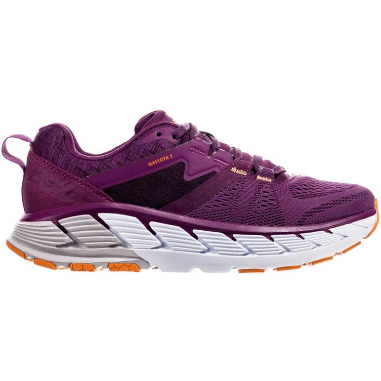 Hoka Women's Gaviota 2 D Width Running Shoes Grape Juice /  Marigold - achilles heel