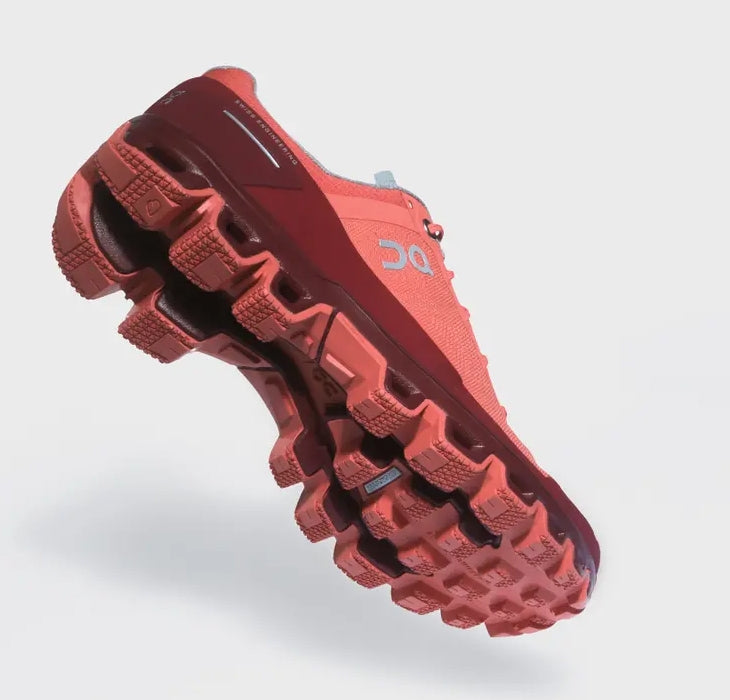 On Women's Cloudventure Trail Running Shoes Coral /  Mulberry - achilles heel
