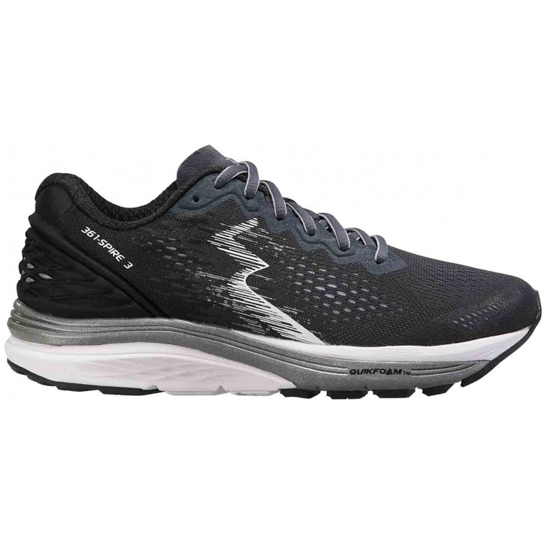 361 Degrees Women's Spire 3 Running Shoes Ebony / Black - achilles heel