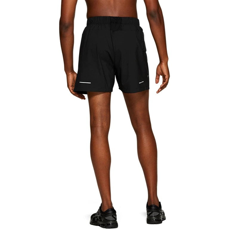 Asics Men's 5 Inch Short Black - achilles heel