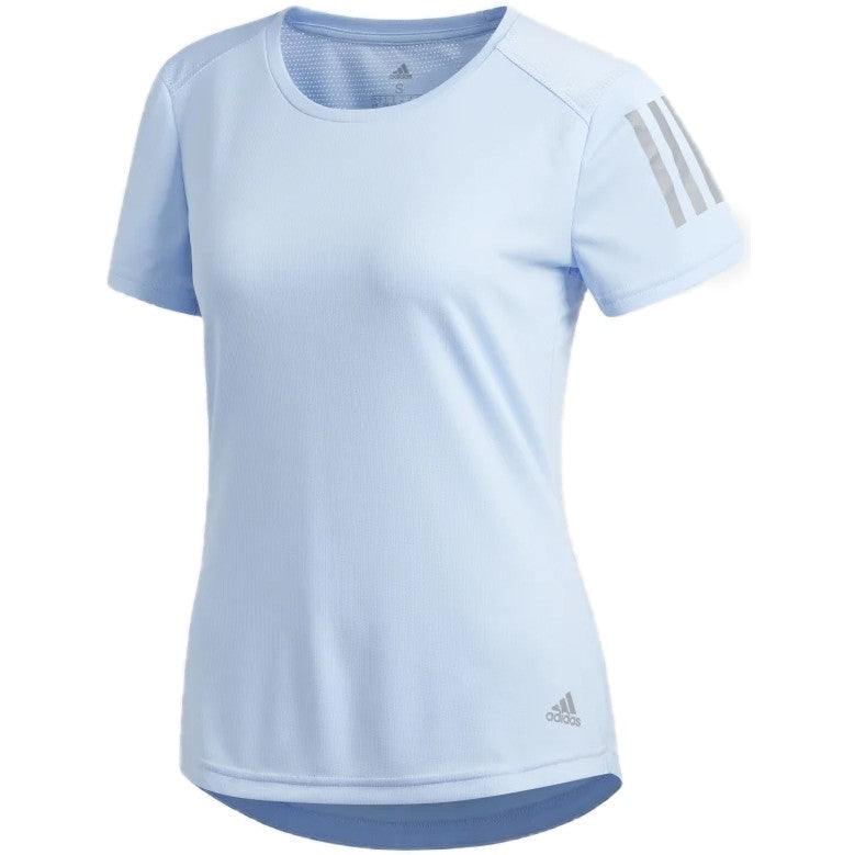 adidas Women's Own The Run Tee Blue - achilles heel