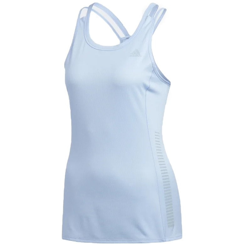 adidas Women's Rise Up N Run Tank Blue - achilles heel