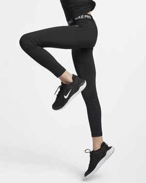 Nike Girls Pro Tight Black / White - achilles heel