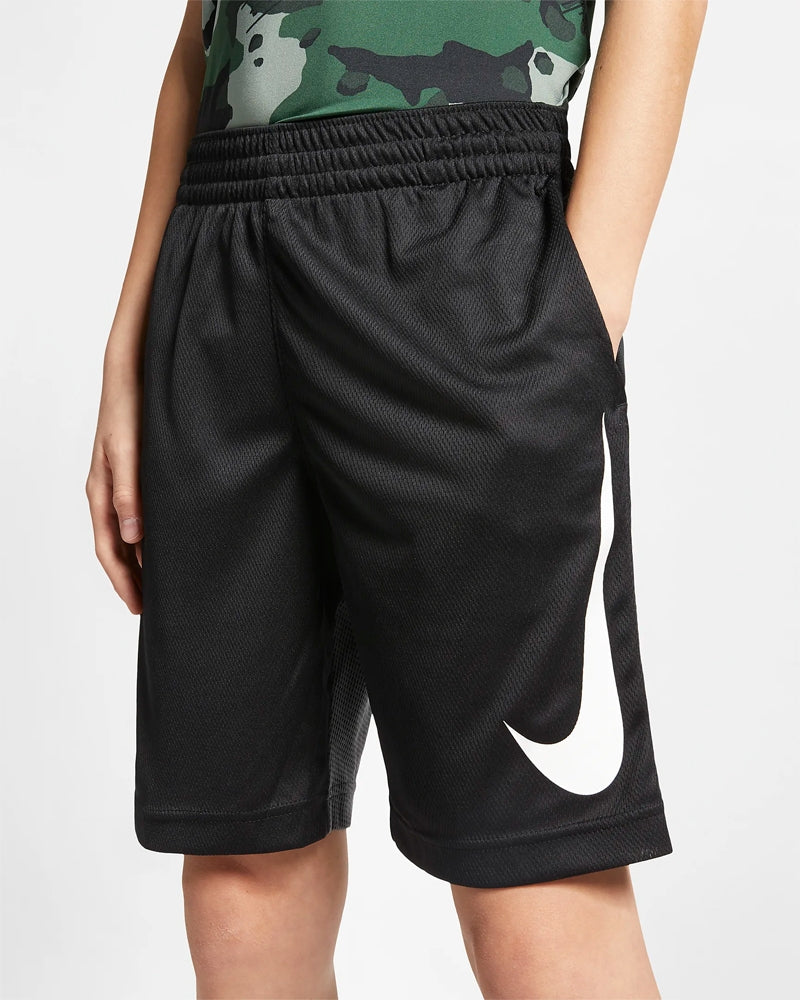 Nike Boys HBR Shorts Black /  Anthracite - achilles heel