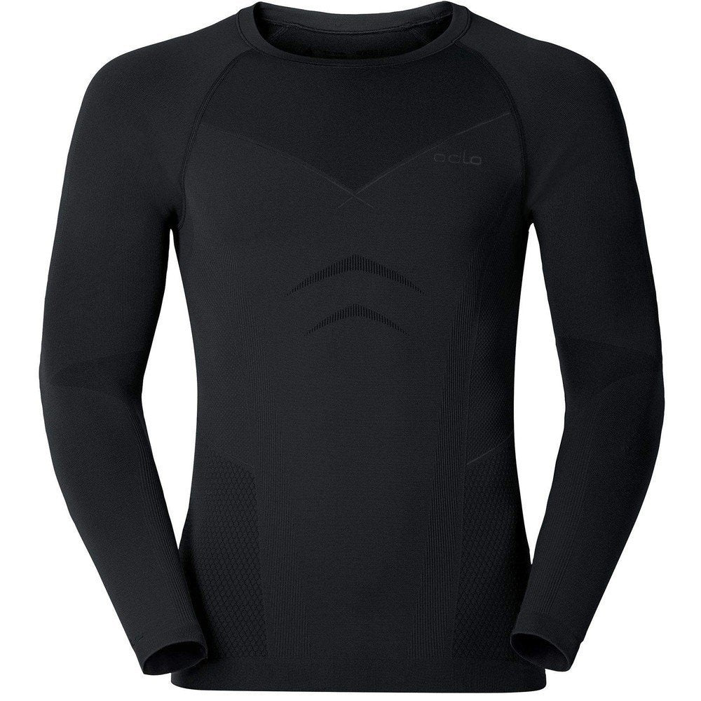Odlo Men's Evolution Warm Baselayer Crew Top Black