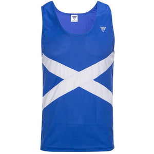 Viga Men's Scotland Running Vest Royal Blue / White - achilles heel