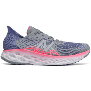 New Balance Women's 1080v10 Running Shoes Steel / Magnetic Blue - achilles heel