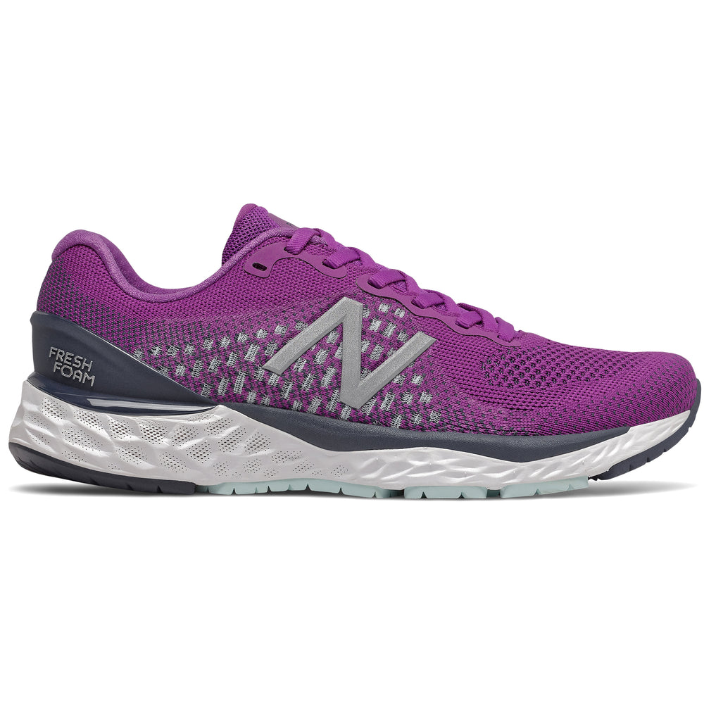 New Balance Women's 880v10 Running Shoes Plum / Natural Indigo - achilles heel