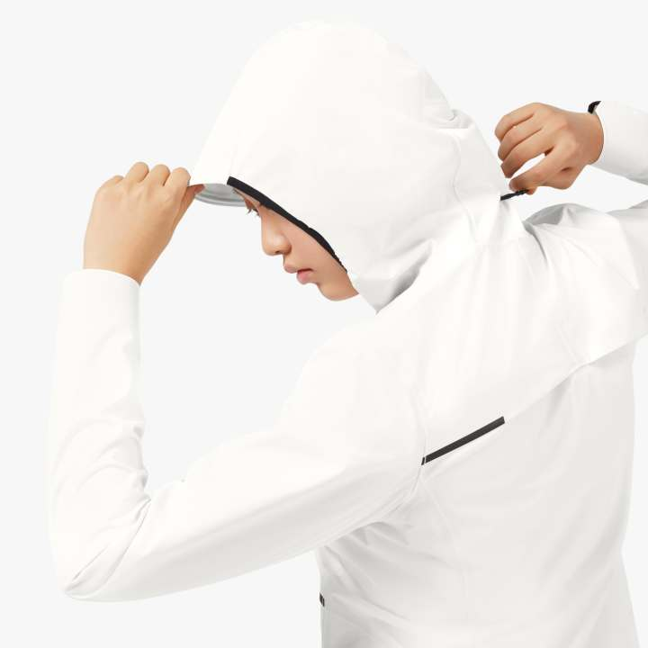 On Women's Waterproof Anorak White - achilles heel