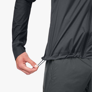 On Men's Weather Jacket Black /  Shadow - achilles heel