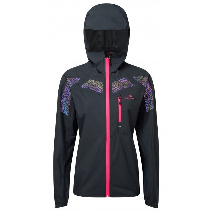 Ronhill Women's Infinity Nightfall Jacket Black & Azalea