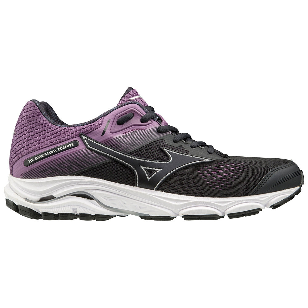Mizuno Women's Wave Inspire 15 Running Shoes Graphite  /  Chinese Violet - achilles heel