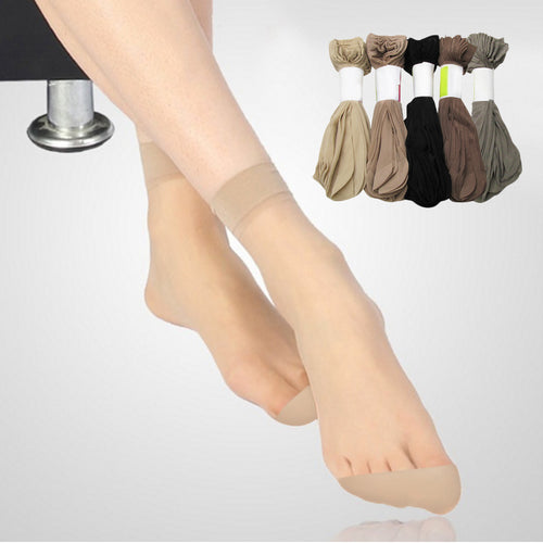 Thin Silk Women Socks 5 Pairs High Quality - LoveCuteStyle