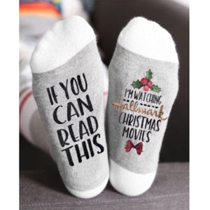 Hallmark Movies Christmas Funny Socks Women - LoveCuteStyle