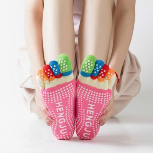 Women Yoga Non-slip Socks Five Fingers - LoveCuteStyle