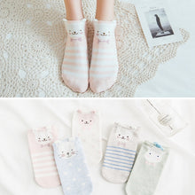 Load image into Gallery viewer, Women Cute Cat Socks 5Pairs - LoveCuteStyle