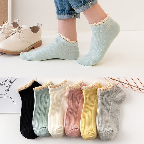 Women lace Socks 5Pairs - LoveCuteStyle