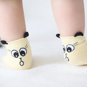 Cute Funny Print Baby Cotton Socks Anti-Slip - LoveCuteStyle