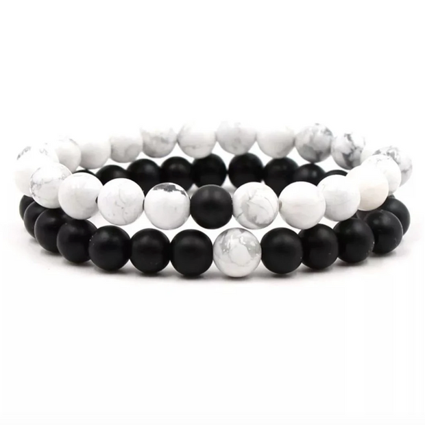 Love Bracelet - Marble and Black