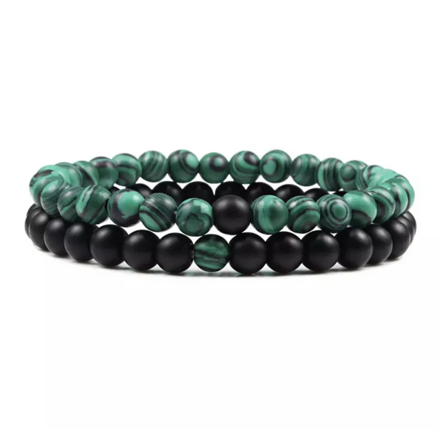 Love Bracelet - Emerald & Black