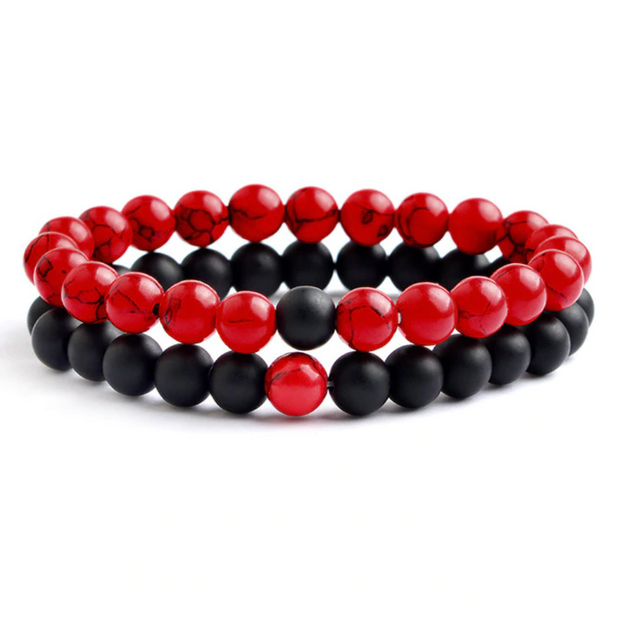 Love Bracelet - Black & Red