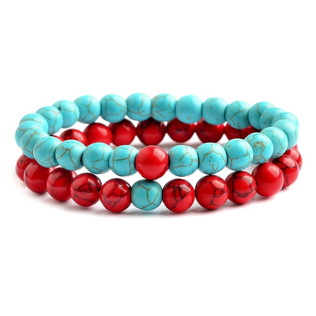 Love Bracelet - Red & Teal