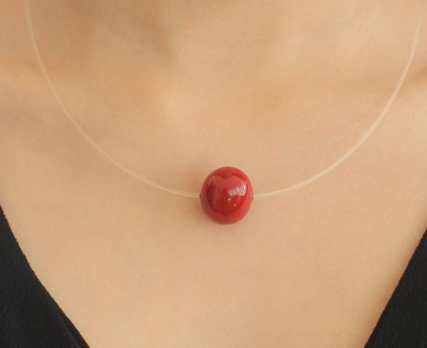 Pearl Shell - Special red pearl shell necklace