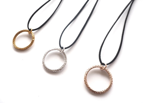 "Textures collection - handmade hammered pendant - ""Earth"" collection"