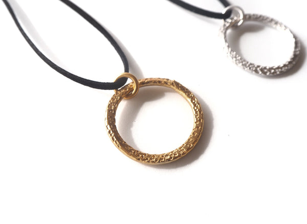 "Textures collection - handmade hammered pendant necklace - ""Earth"" collection"