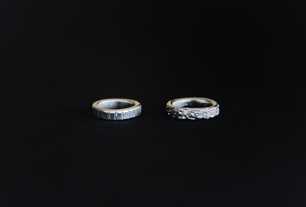 Textures collection - handmade thick ring band
