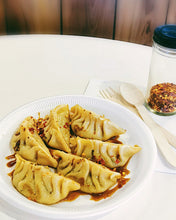 Load image into Gallery viewer, Mixed Veggie & Green Olive Dumplings (gyoza)
