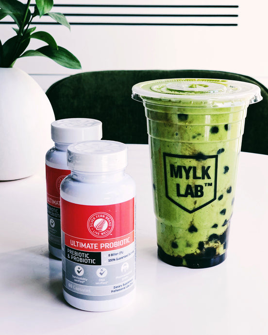 Iced Matcha Mylk (with tapioca pearls)