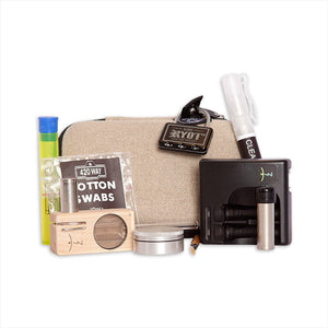 Algonquin Park Vaporizer Kit Featuring the Launch Box, Locking Case, Grinder and Cleaning Supplies