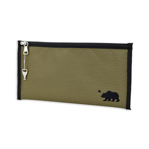 "Cali Crusher Cali Pouch Keeps Your Gear Safe With Locking Zipper - 11"" x 6"" - Olive Green"