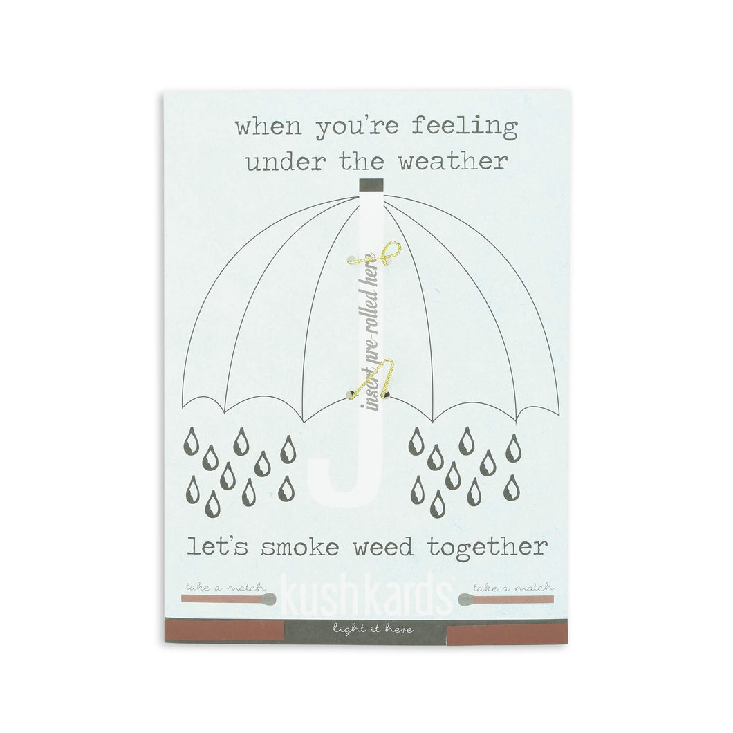 KushKards 'Smoke Weed Together' Just Add A Pre-roll Get Well Soon Greeting Card