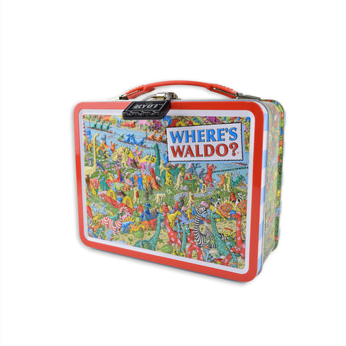 Lockable lunch box with combination lock - Where's Waldo?