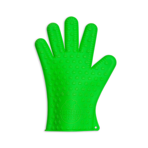 Silicone Oven Mitt - Cannabis Leaf - 420Way