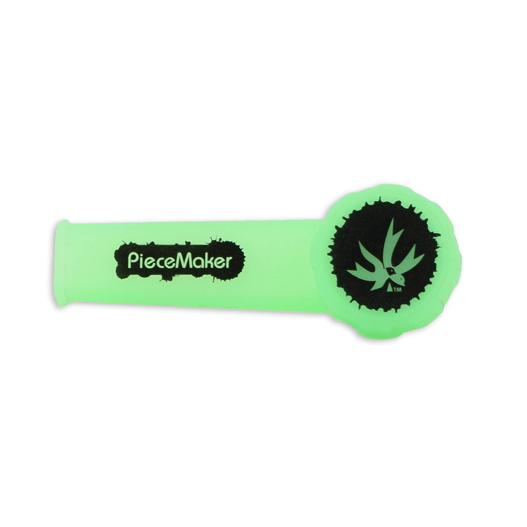 Piece Maker Small Silicone Pipe Karma - Glow Green
