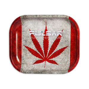 "Cannabian Flag Metal Rolling Tray With Rolled Edges For Strength - Medium 10.5"" x 6.25"""
