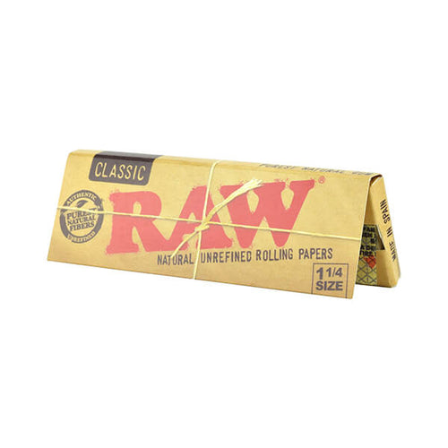 Raw Classic 1-1/4 Wide Rolling Papers - 50 pack