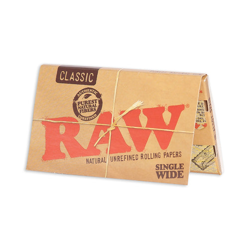 Raw Classic Single Wide Rolling Papers - 100 pack - 420Way