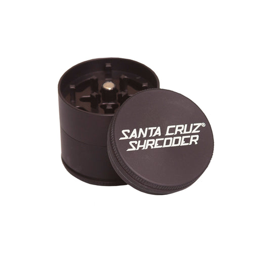 Santa Cruz Shredder Small 3 piece Grinder in Matt Black - 420Way