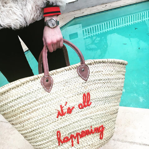 Emma Roberts POOLSIDE Personalized Beach Tote Bag